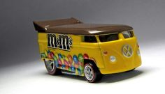 M&M's Drag Bus with Red Stripe Real Rider Tires.