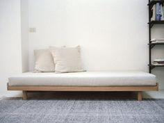 Daybed for lounge room 1 Debbie Daybed Mattress, Furniture, Oak Bed Frame, Solid Oak Beds, Bed, Diy Daybed, Sofa Furniture, Wood Dining Chairs, Bed Frame