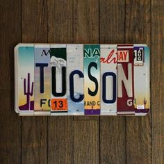 TUCSON License Plate sign from Pop-Cycle Shop! for $40.00 on Square Market