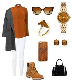 """""""Untitled #25"""" by inepinto20 ❤ liked on Polyvore featuring Whistles, Timberland, Zara, Michael Kors, Ona Chan, Bulgari, Toast, Relaxfeel, Kevin Jewelers and women's clothing"""