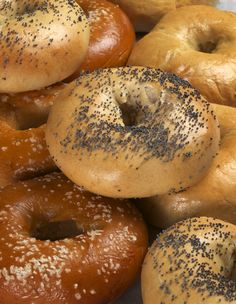 I was going to pin http://www.sophisticatedgourmet.com/2009/10/new-york-style-bagel-recipe/ but the images wouldn't load.  Both links are great bagel recipes!