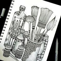 Cute Doodle Art, Doodle Art Designs, Doodle Art Drawing, Mandala Drawing, Simple Doodle Art, Mandala Sketch, Watercolor Mandala, Mandala Art Therapy, Mandala Art Lesson