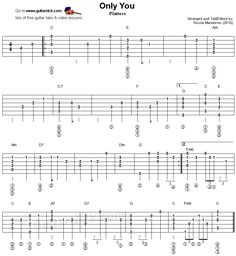 Only You - fingerstyle guitar tablature
