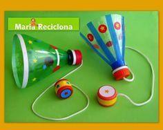 ** Maria Reciclona **: Bilboquê. Mais um brinquedo com material reciclado para a…