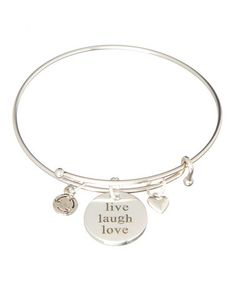 Look what I found on #zulily! Silver 'Live Love Laugh' Charm Bracelet by Gabby & Gia #zulilyfinds