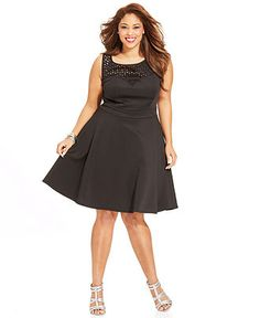 8131e3f0893e9 Trixxi Plus Size Sleeveless Cutout A-Line Dress - Plus Size Dresses - Plus  Sizes