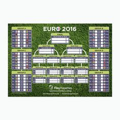 Euro 2016 Football leaflet design