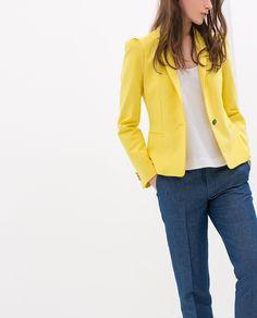 Zara fabric blazer