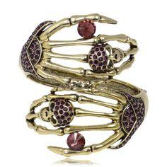 EVER FAITH Vintage Style Dual Skull Austrian Crystal Purple Bracelet Cuff  http://www.amazon.com/dp/B00CDJQVHM/ref=cm_sw_r_pi_dp_3riUvb0BGCH9Y