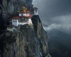 Tiger's Nest Monastery, perched precariously on the edge of a 3,000-feet-high cliff in Paro Valley, is one of the holiest places in Bhutan.