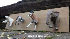 DIY porte manteau animaux  http://aiguillemoi.com/blog/