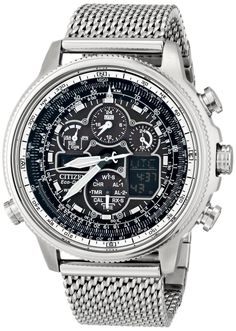 Men watches Citizen Eco-Drive Navihawk A-T Stainless Steel Men's watch #JY8030-83E Watches men