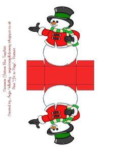 JustAngiesStuff 's Templates etc album Christmas Gift Box, Christmas Paper, Christmas Colors, Christmas Cards, Christmas Decorations, Paper Box Template, Origami Templates, Box Templates, Christmas Crafts For Kids To Make