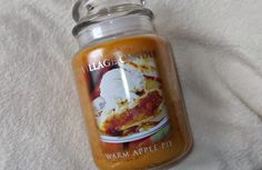 Village Candle Warm Apple Pie. Candle Warmer, Apple Pie, Candles, Apple Pies, Candle Sticks, Candle, Apple Pie Cake, Apple Cobbler, Lights