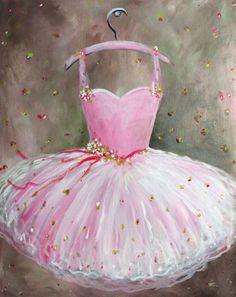 Graffiti Paintbar - Paint and Sip Studio Ballerina Tutu, Ballerina Birthday, Family Painting, Painting For Kids, Art For Kids, Ballet Painting, Ballet Art, Ballet Girls, Painting Art