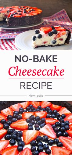 No bake cheesecake recipe (perfect for July 4th)