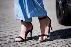 Blue | Trousers | Jumpsuit | High heels | Black | Sandals | More on Fashionchick.nl