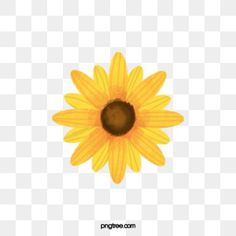 Sunflower Clipart, Sunflower Pictures, Sunflower Flower, Yellow Sunflower, Yellow Flowers, Sunflowers Background, Blue Sky Background, Paint Background, Watercolor Background