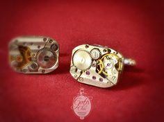 Steampunk Cufflinks Cuff Links  Vintage by GothChicAccessories, $33.90