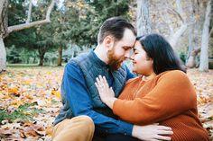 plus size bride, intimate engagement pose