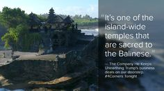 The Balinese people have fought for decades to protect it. The sacred location of Donald Trump's new resort. Expose on Australian ABC Television's #4Corners