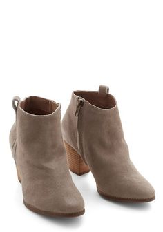 Effortless Essential Bootie. Completing a casual look is simpler than ever since you found these pebble-grey Chelsea Crew booties. #tan #modcloth