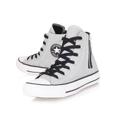 Ideas Fashion Shoes Converse High Tops For 2019 High Top Sneakers, Grey Sneakers, Converse Sneakers, Best Sneakers, Converse All Star, Converse High, Vans, Canvas Sneakers, Grey Converse