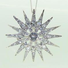 Star Brooch and Pendant Heavenly Necklaces - Faux Diamonds - Real Gemstones - Jewellery