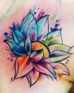"Rainbow lotus tattoo to tie in ""beauty thru turmoil"" and ""rainbow baby"" (baby after miscarriages). Love!"