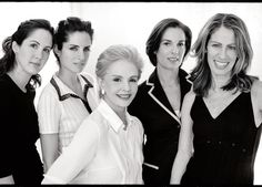 Carolina Herrera Daughters | Carolina Herrera with daughters Patricia, Carolina, Mercedes and Ana ...