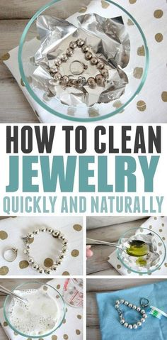 This is the best, quickest way to clean jewelry naturally! It's easy, works on almost any type of jewelry, and doesn't uses a single harsh chemical! #jewelryinspiration