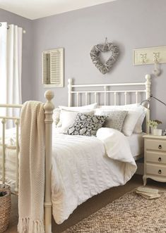 Chalk Cottage Bedroom If you like this pin, why not head o. Chalk Cottage Bedroom If you like this pin, why not head on over to get similar inspiration and join our FREE home design resource library at www. Gray Bedroom, Home Decor Bedroom, Bedroom Furniture, Master Bedroom, Furniture Ideas, Country Furniture, Bedroom Wall, Country Decor, Country Cottage Bedroom