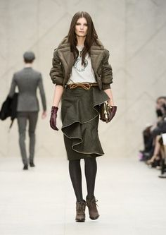 Love the ruffled skirt - Burberry