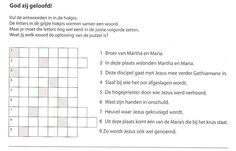god zij geloofd puzzel einde jezus' leven blz50