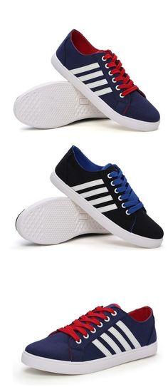 Zapatos de Hombre - Sneakers a la Moda - Casual - Tela - Negro   Azul b030c040329