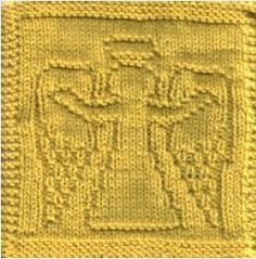 Angel of Welcome  free dish cloth pattern