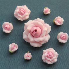 9pcconjuntoRosapolímero arcilla DIY flores para por naturaler,