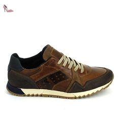 MUSTANG Sneakers 302301 Marron - Chaussures mustang (*Partner-Link) Basket Sport, Baskets, Ford Bronco, Asics, Sneakers, Casual Shoes, Dress Shoes, Mens Fashion, Stylish