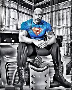 "Dwayne ""The Rock"" Jo Dwayne ""The Rock"" Johnson. Rock Johnson, The Rock Dwayne Johnson, Dwayne The Rock, My Rock, Black Adam, Dwyane Johnson, X Men, Superman Shirt, Game Of Thrones"