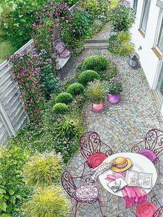 farbenprächtiger sichtschutz | blume, haus und rasen, Garten ideen gestaltung
