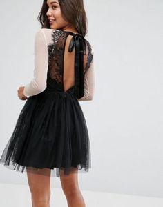 ASOS PREMIUM Sheer Top Tulle Mini Prom Dress at asos.com | @giftryapp