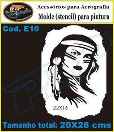 Stencil - Aerografia Molde Vazado - India - Promoção - R$ 20,00 no