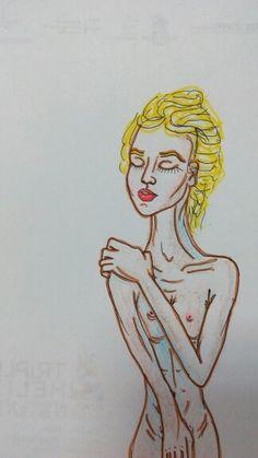 5 minutes sketch. Pencils, markers