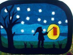 Jahreszeitentisch - Waldorf Transparentbild Laternenzug - ein Designerstück von Puppenprofi bei DaWanda Logo Inspiration, Early Childhood, Montessori, Xmas, Etsy, Halloween, Logos, How To Make, Flashlight