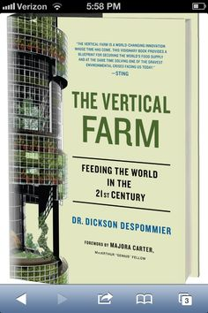Food growth/farming systems integrated into building systems proposed as an alternative to land-based farming.