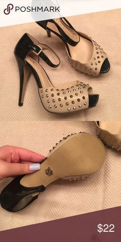 ROCK & REPUBLIC Studded Sandals Brand new! 1 1/2 inch platform. 5 inch heel! Rock & Republic Shoes Sandals