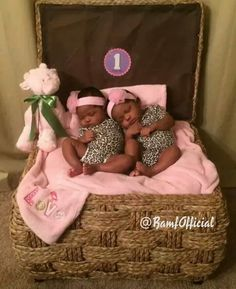 One month old twins