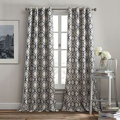 Shop for rutherford grommet top window panel at Bed Bath & Beyond. Buy top selling products like Rutherford Grommet Top Window Curtain Panel and undefined. 108 Inch Curtains, Navy Curtains, Panel Curtains, Panel Bed, Curtains Living, Curtain Panels, Window Panels, Window Coverings, Window Treatments