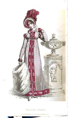 Walking Dress from from Ackermann's Repository of the Arts December 1819