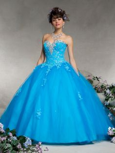 Sweetheart Beaded Lace & Tulle Vizcaya Quinceañera Ball Gown